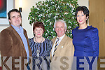 HELPERS: Kieran Harty, Julianne and Tom Lowor and Sheila harty who helped out at the Ballyheigue ploughing Competition and went to their dinner on Saturday night in Ballyroe Heights Hotel, Tralee................. . ............................... ..........