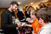 Tuesday  15 December 2015<br /> Pictured: Jordi Amat<br /> Re: Kids SCFC Christmas Party at the Liberty Stadium, Swansea