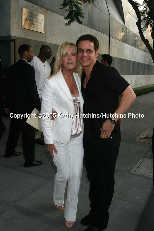 Joan Van Ark.Christian Le Blanc.(Joan played Christian's mother on the Young and the Restless before leaving the show).CBS TCA Summer Press Tour Party.(TCA = Television Critics Association).Los Angeles, CA.July 19, 2005.©2005 Kathy Hutchins / Hutchins Photo