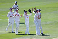 Sam Cook of Essex celebrates taking the wicket of Chris Nash during Essex CCC vs Nottinghamshire CCC, Specsavers County Championship Division 1 Cricket at The Cloudfm County Ground on 14th May 2019