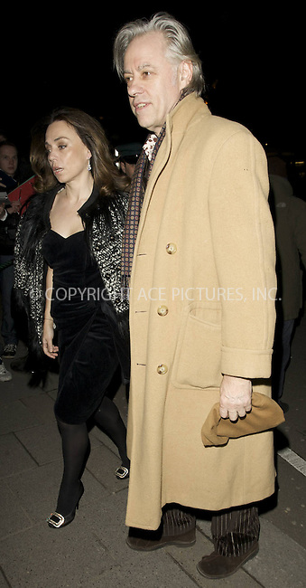 WWW.ACEPIXS.COM . . . . .  ..... . . . . US SALES ONLY . . . . .....February 2010, London....Bob Geldof during London Fashion Week in February 2010 in London....Please byline: FAMOUS-ACE PICTURES... . . . .  ....Ace Pictures, Inc:  ..tel: (212) 243 8787 or (646) 769 0430..e-mail: info@acepixs.com..web: http://www.acepixs.com