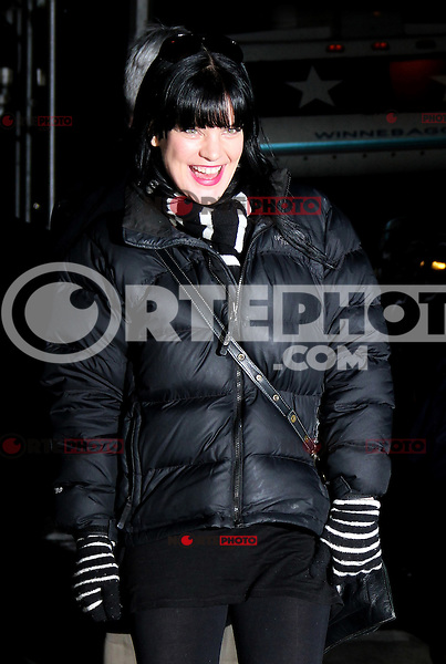 NEW YORK, NY - FEBRUARY 4: Pauley Perrette at the Late Show With David Letterman in New York City. February 4, 2013. Credit:  RW/MediaPunch Inc.