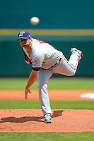 Fort Myers Miracle starting pitcher Scott Diamond #17, on rehab assignment, during a game against the Bradenton Marauders at McKechnie Field on April 7, 2013 in Bradenton, Florida.  Fort Myers defeated Bradenton 9-8 in ten innings.  (Mike Janes/Four Seam Images)