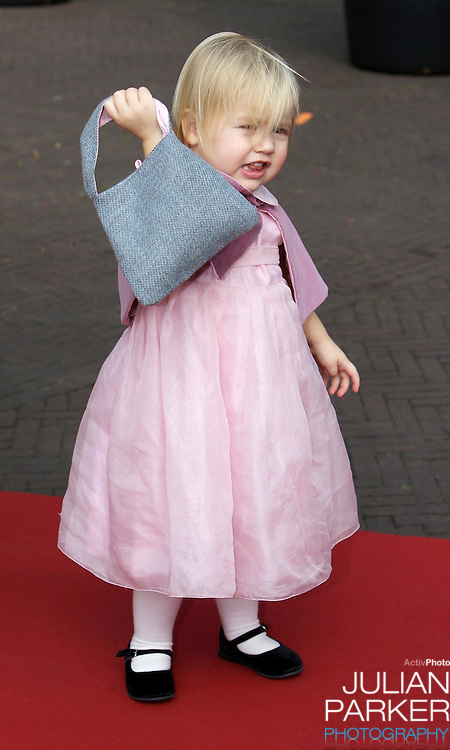 Princess Alexia of The Netherlands attends her sister, Princess Ariane's Christening at The Kloosterkerk in The Hauge, Holland.