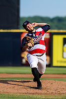 Quad Cities River Bandits pitcher Parker Mushinski (11) delivers a pitch during a Midwest League game against the Peoria Chiefs on May 27, 2018 at Modern Woodmen Park in Davenport, Iowa. Quad Cities defeated Peoria 8-3. (Brad Krause/Four Seam Images)