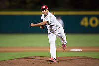 Danny Miranda (38) of the Springfield Cardinals delivers a pitch during a game against the Northwest Arkansas Naturals at Hammons Field on August 20, 2013 in Springfield, Missouri. (David Welker/Four Seam Images)