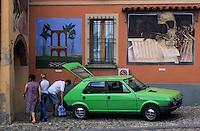 Europe/Italie/Emilie-Romagne/Env de Bologne/Dozza Imolese : Mur peint