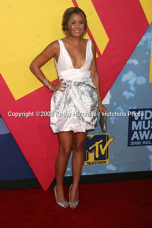 Lauren Conrad  arriving at  the Video Music Awards on MTV at Paramount Studios, in Los Angeles, CA on.September 7, 2008.©2008 Kathy Hutchins / Hutchins Photo....