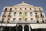 Juan Bravo Theatre in the Plaza Mayor Square, Segovia, Castile and Leon, Spain