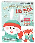 Dreams, CHRISTMAS ANIMALS, WEIHNACHTEN TIERE, NAVIDAD ANIMALES, paintings+++++,MEDAGBX21/03,#XA#