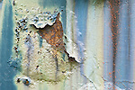 WA, Snoqualmie, Peeling Paint on Old Train Car