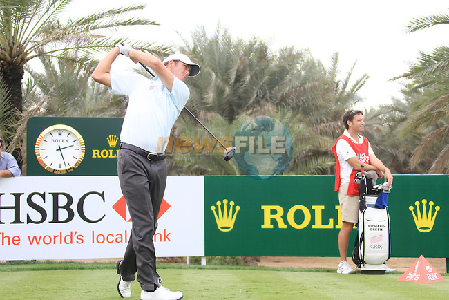 Richard Green teeing off on the 9th tee on day one of the Abu Dhabi HSBC Golf Championship 2011, at the Abu Dhabi golf club, UAE. 20/1/11..Picture Fran Caffrey/www.golffile.ie.