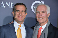 Los Angeles Mayor Eric Garcetti &amp; father Gil Garcetti at the Los Angeles premiere for &quot;La La Land&quot; at the regency Village Theatre, Westwood. <br /> December 6, 2016<br /> Picture: Paul Smith/Featureflash/SilverHub 0208 004 5359/ 07711 972644 Editors@silverhubmedia.com