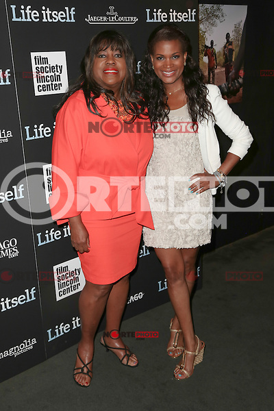 New York, NY - June 23 : Chaz Ebert and daughter Sonia Evans attend the New York Premiere of Life Itself<br /> held at the Film Society of Lincoln Center Walter Reade Theater<br /> on June 23, 2014 in New York City. Photo by Brent N. Clarke / Starlitepics