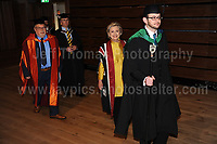Swansea University, South Wales, UK, Saturday 14th Oct 2017 - <br /> <br /> Hillary Rodham Clinton was today in attendance at Swansea University, where she received an Honorary Doctorate of Laws.<br /> <br /> Hillary Clinton enters the Great Hall to begin the ceremony.<br /> <br /> Jeff Thomas Photography -<br /> www.jaypics.photoshelter.com - <br /> e-mail swansea1001@hotmail.co.uk -<br /> Mob: 07837 386244 -