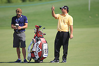 Patrick Reed (USA) on the 1st fairway during the preview for the DP World Tour Championship at the Earth course,  Jumeirah Golf Estates in Dubai, UAE,  18/11/2015.<br /> Picture: Golffile | Thos Caffrey<br /> <br /> All photo usage must carry mandatory copyright credit (&copy; Golffile | Thos Caffrey)