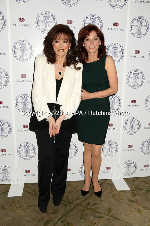 LOS ANGELES - APR 22:  Jackie Collins, Marilu Henner at the Women's Guild Cedars-Sinai Luncheon at Beverly Hills Hotel on April 22, 2014 in Beverly Hills, CA