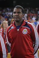 Chivas USA assistant head Coach Carlos Llamosa.  Chivas USA defeated DC United 2-0  at RFK Stadium, Saturday October 3, 2009.