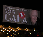 Marquee for the Roundabout Theatre Company's 2019 Gala honoring John Lithgow at the Ziegfeld Ballroom on February 25, 2019 in New York City.