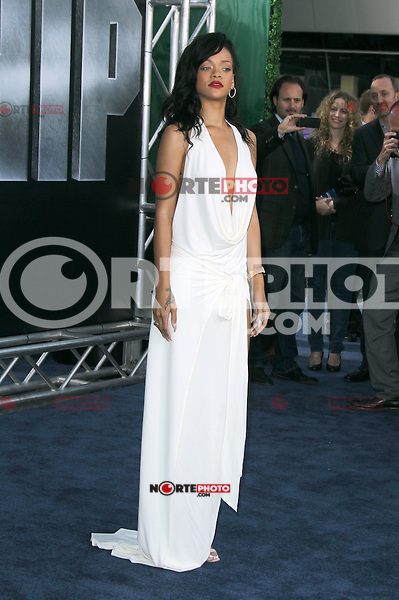 Rihanna at the film premiere of 'Battleship,' at the NOKIA Theatre at L.A. LIVE in Los Angeles, California. May, 10, 2012. ©mpi20/MediaPunch Inc.