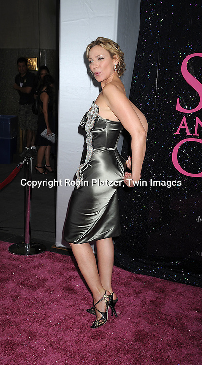 "Kim Cattrall in Vivienne Westwood dress..posing for photographers at The New York Premiere of the ..""Sex and The City"" movie  on May 27, 2008 at Radio City Music Hall. ....Robin Platzer, Twin Images"