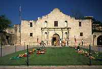 AJ1838, The Alamo, San Antonio, Texas, The facade of the Alamo in San Antonio.