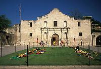 AJ1838, The Alamo, San Antonio, Texas, The facade of the Alamo in San Antonio.