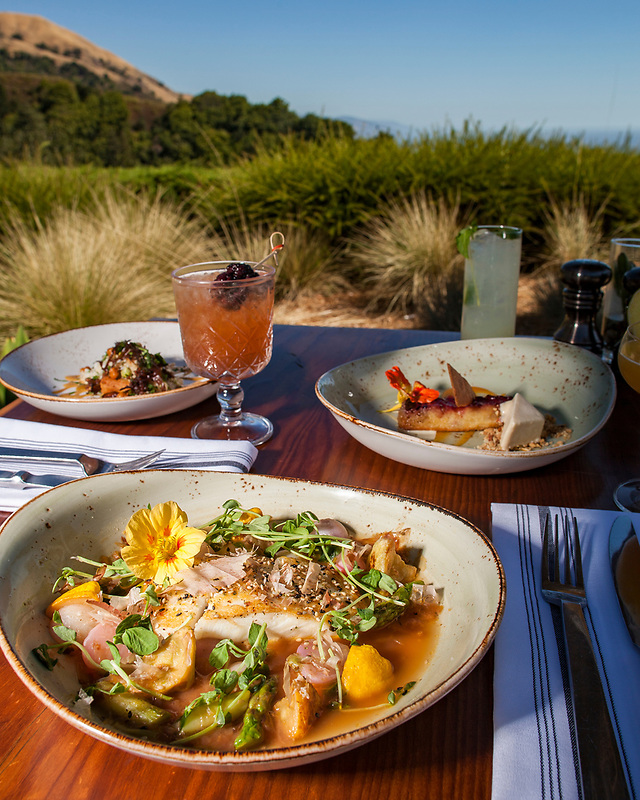 Shrimp appetizer at Sticks Restaurant at The Inn at Spanish Bay in Pebble Beach, California.