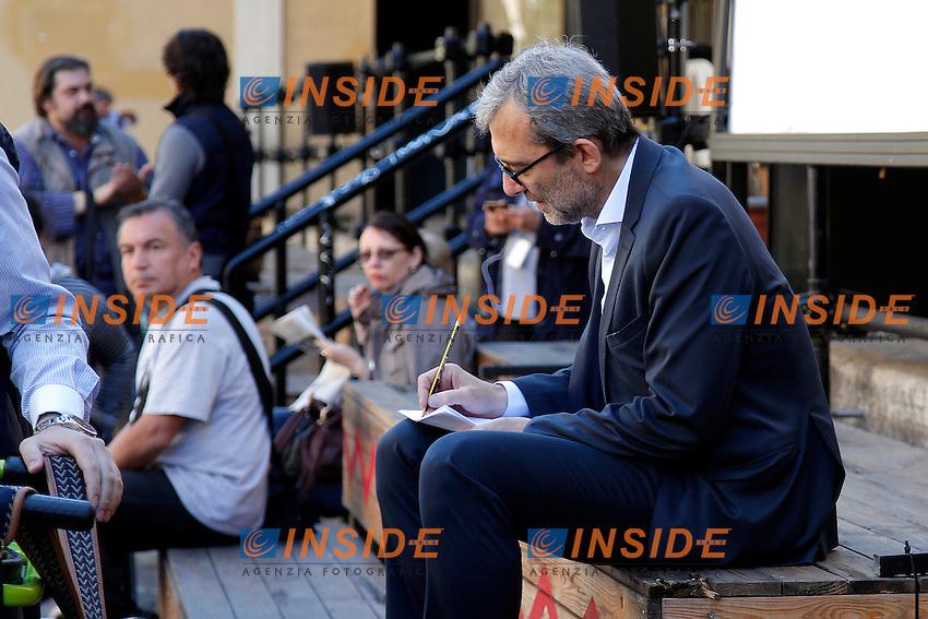Roberto Giachetti <br /> Roma 6-05-2016. Il candidato sindaco di Roma del PD incontra i disabili nella sede del comitato elettorale.<br /> Photo Samantha Zucchi Insidefoto