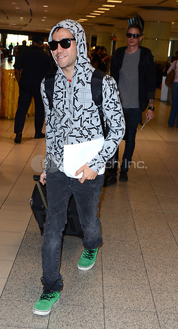TORONTO, ON - SEPTEMBER 09:  Pete Wentz arrives in Toronto at Pearson International Airport for this years .2011 Toronto International Film Festival.  on September 9, 2011 in Toronto, Canada.   <br />