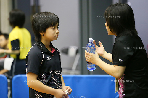 Sewa Hirano, <br /> JULY 27, 2013 - Table Tennis : <br /> All Japan Table Tennis Championships <br /> Women's Hopes Singles <br /> at Green Arena Kobe, Hyogo, Japan. <br /> (Photo by YUTAKA/AFLO SPORT)