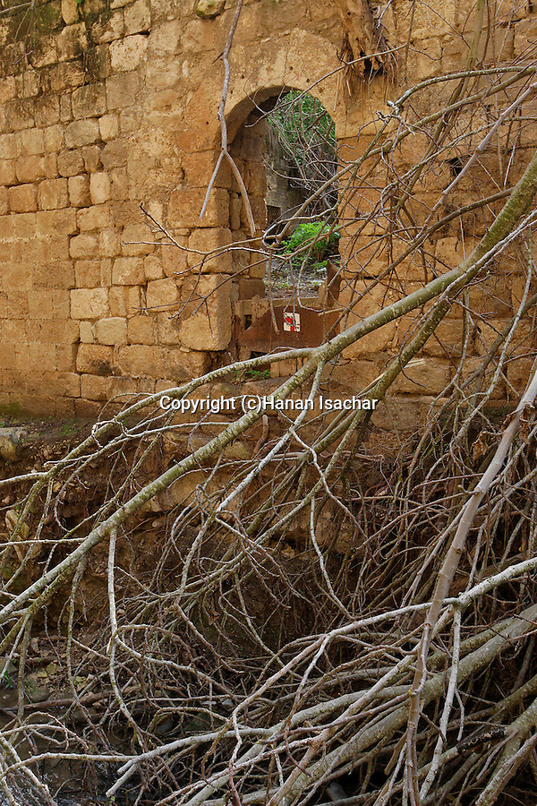 Israel, old flour mill by Keini stream in Menashe Heights