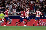 Atletico de Madrid's players celebrate goal during La Liga match between Atletico de Madrid and Getafe CF at Wanda Metropolitano Stadium in Madrid, Spain. August 18, 2019. (ALTERPHOTOS/A. Perez Meca)