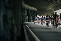 peloton tunnel-descending<br /> <br /> Stage 5: Gstaad &gt; Leukerbad (155km)<br /> 82nd Tour de Suisse 2018 (2.UWT)