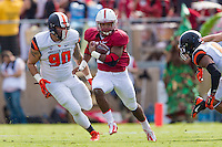 STANFORD, CA - OCTOBER 25, 2014:  Barry Sanders during Stanford's game against Oregon State. The Cardinal defeated the Beavers 38-14.