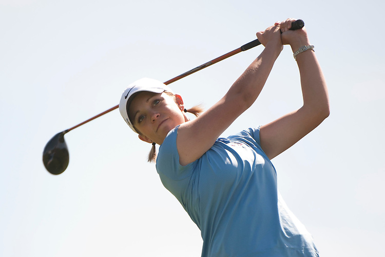 April 18, 2012; Hollister, CA, USA; Gonzaga Bulldogs golfer Stephanie Corey during the WCC Golf Championships at San Juan Oaks Golf Club.