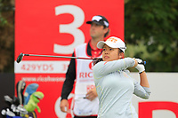 Wei-ling Hsu (TPE) on the 3rd tee during Round 3 of the Ricoh Women's British Open at Royal Lytham &amp; St. Annes on Saturday 4th August 2018.<br /> Picture:  Thos Caffrey / Golffile<br /> <br /> All photo usage must carry mandatory copyright credit (&copy; Golffile | Thos Caffrey)