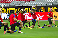 Glendale, AZ - Friday June 24, 2016: Clint Dempsey, Geoff Cameron, Michael Bradley of the United States during a training prior to the third place match of the Copa America Centenario at the University of Phoenix Stadium.<br /> Action photo during of the United States team training before the game against the selection of Colombia for third place in the America Cup Centenary 2016 at University of Phoenix Stadium<br /> <br /> Foto de accion durante el Entrenamiento de la Seleccion de Estados Unidos previo al partido contra la Seleccion de Colombia por el tercer lugar de la Copa America Centenario 2016, en el Estadio de la Universidad de Phoenix, en la foto: (i-d) Clint Dempsey, Geof Cameron y Michael Bradley de USA<br /> <br /> <br /> 24/06/2016/MEXSPORT/Victor Posadas.