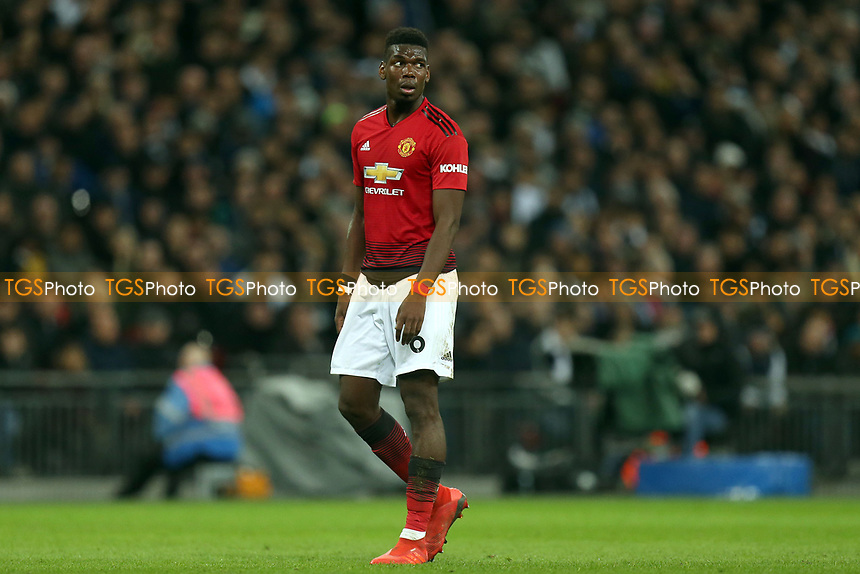 Paul Pogba of Manchester United during Tottenham Hotspur vs Manchester United, Premier League Football at Wembley Stadium on 13th January 2019