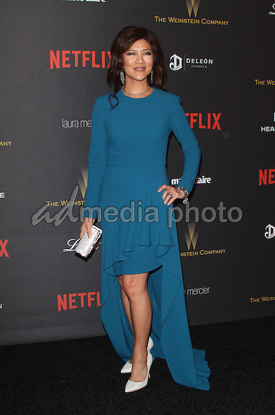 10 January 2016 - Los Angeles, California - Julie Chen. 2016 Weinstein Company & Netflix Golden Gloves After Party held at the Beverly Hilton Hotel. Photo Credit: AdMedia