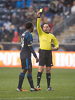 Amobi Okugo, Jose Carlos Rivero.  The Philadelphia Union defeated the New England Revolution, 1-0, at PPL Park in Chester, PA.