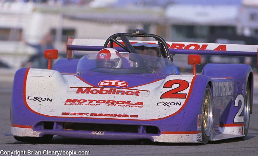 The #2 Spice-Oldsmobile AK93 of Jerey Dale, Ruggero Melgrati, Bob Schader and Price Cobb races through a turn en route to a 9th place finish in the Rolex 24 at Daytona at Daytona International Speedway, Daytona Beach, FL, February 5-6, 1994.  (Photo by Brian Cleary/www.bcpix.com)