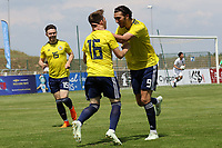 Fraser Hornby (No 9) congratulates Billy Gilmour after scoring Scotland's opening goal during South Korea Under-21 vs Scotland Under-21, Tournoi Maurice Revello Football at Stade Parsemain on 2nd June 2018