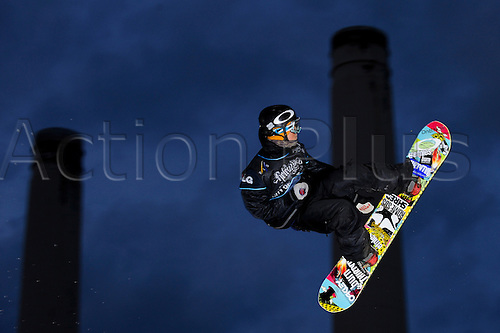 29.10.2011 London, England. Staale SANDBECH (NOR) in action during the Final of the LG Snowboard FIS World Cup 2012 Men's Big Air at the Relentless Energy Drink Freeze Festival at Battersea Power Station. Mandatory credit: ActionPlus