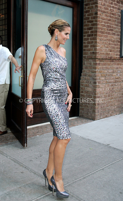 WWW.ACEPIXS.COM . . . . .  ....June 29 2011, New York City....Model Heidi Klum leaves her downtown hotel on June 29 2011 in New York City....Please byline: CURTIS MEANS - ACE PICTURES.... *** ***..Ace Pictures, Inc:  ..Philip Vaughan (212) 243-8787 or (646) 679 0430..e-mail: info@acepixs.com..web: http://www.acepixs.com