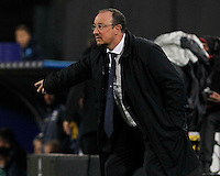 Rafael Benitez gestures  during the Italian Serie A soccer match between SSC Napoli and Parma FC at San Paolo stadium in Naples