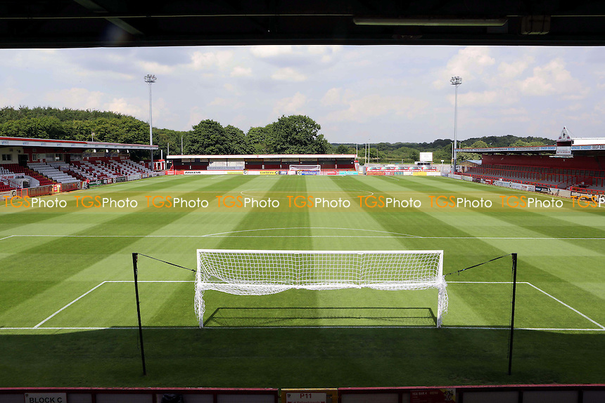 The pitch at Stevenage Borough FC prior to the start of the season during Stevenage vs Brighton and Hove Albion, Friendly Match Football at the Lamex Stadium on 23rd July 2016