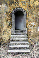 This door within the Pena National Palace of Sintra, Portugal is representative of its Moorish architecture influences.  The Palace is a UNESCO World Heritage Site.