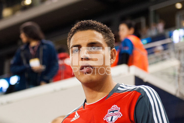 Luis Silva (11) of Toronto FC. The New York Red Bulls defeated Toronto FC 4-1 during a Major League Soccer (MLS) match at Red Bull Arena in Harrison, NJ, on September 29, 2012.