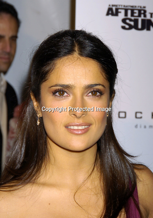 "Salma Hayek ..at The New York Premiere of ""After The Sunset"" on ..November 9, 2004 at The Ziegfeld Theatre.  The screening benefitted The New York City Office to Combat Domestic ..Violence in cooperation with the Kings County District Attorney's Office.                                                                Photo by Robin Platzer, Twin Images"